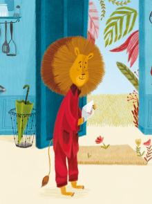 vignette un lion très coquet