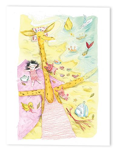 """Reprographie d'une illustration extraite de """"La grande inconnue"""" de Pog et Maurèen Poignonec - éditions Maison Eliza"""