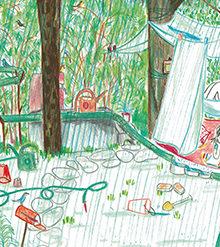 Dans le jardin extrait 1 sous la pluie