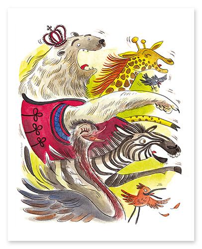 """Reproduction d'une illustration extraite de l'album """"Chichi Poilu"""" de Lenia Major et Caroline Ayrault - éditions Maison Eliza"""